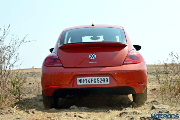 new 2016 Vw volkswagen Beetle orange Rear View