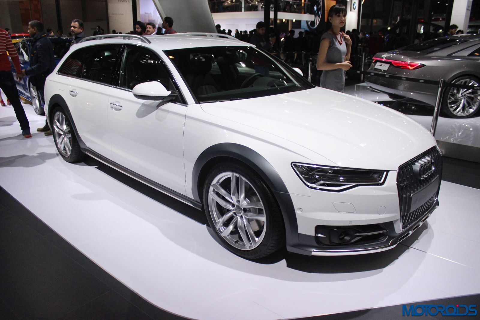 auto expo 2016 audi showcases the a6 allroad quattro sq5 s3 cabrio rs7 performance and tt. Black Bedroom Furniture Sets. Home Design Ideas