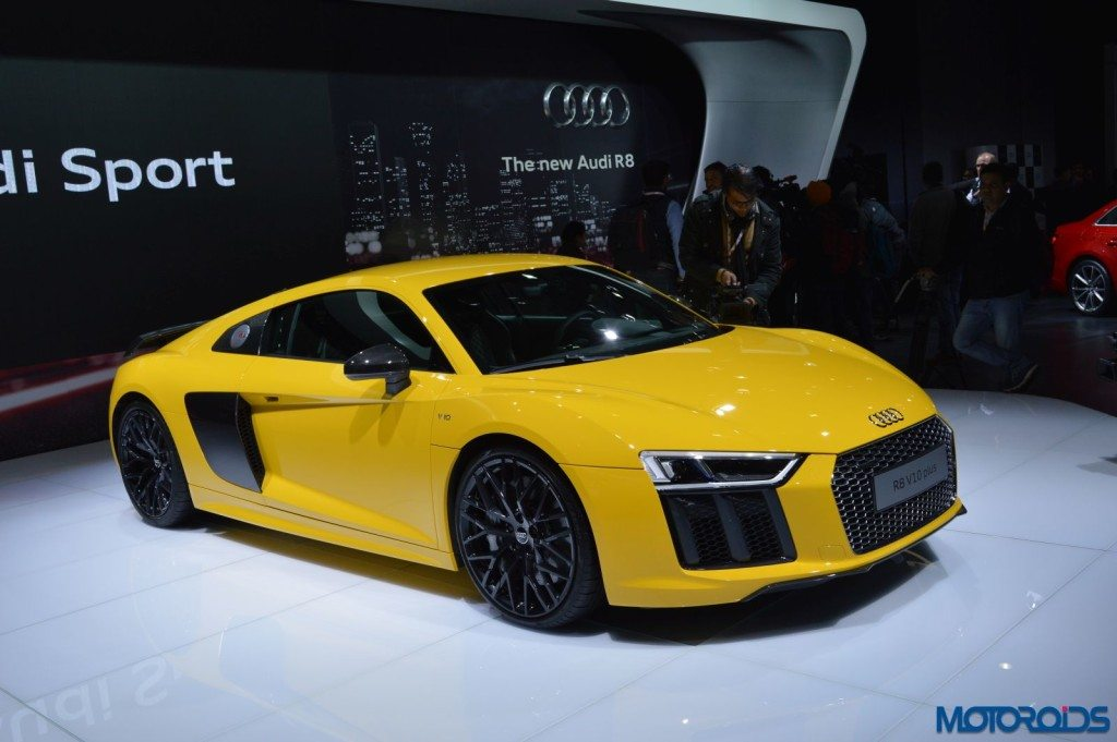 all new audi r8 v10 launched in india prices start at inr crore motoroids. Black Bedroom Furniture Sets. Home Design Ideas
