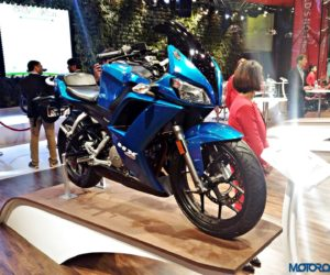 Hero HX25 Auto Expo 2016 8 300x250 Auto Expo 2016: Hero MotoCorp HX250 revealed in production trim, drops the R [Gallery Updated]