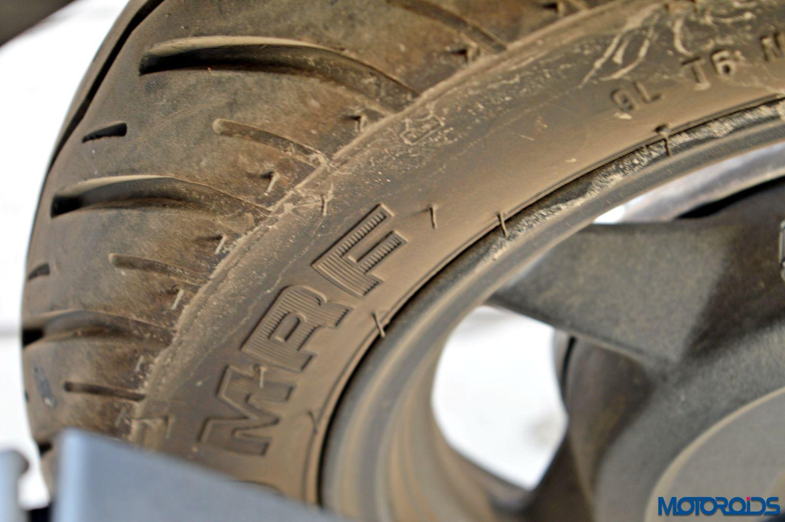 Hero Maestro Edge - Review - Details - Tyre (4)