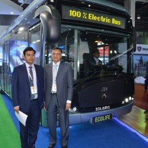 Auto Expo 2016: JBM and Solaris unveil Ecolife, one of India's first 100% electric buses