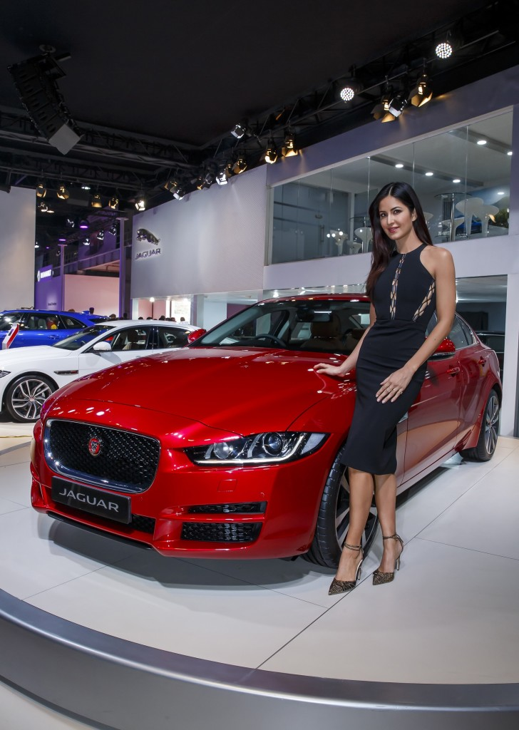 Katrina Kaif with the All-New Jaguar XE