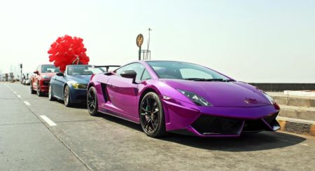 Lamborghini Gallardo STS purple chrome 1
