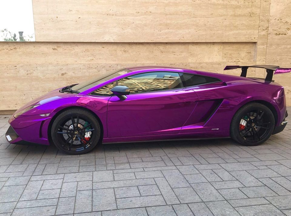 Chrome Car Wrap >> Mumbai: India's only Lamborghini Gallardo STS gets wrapped in purple chrome | Motoroids