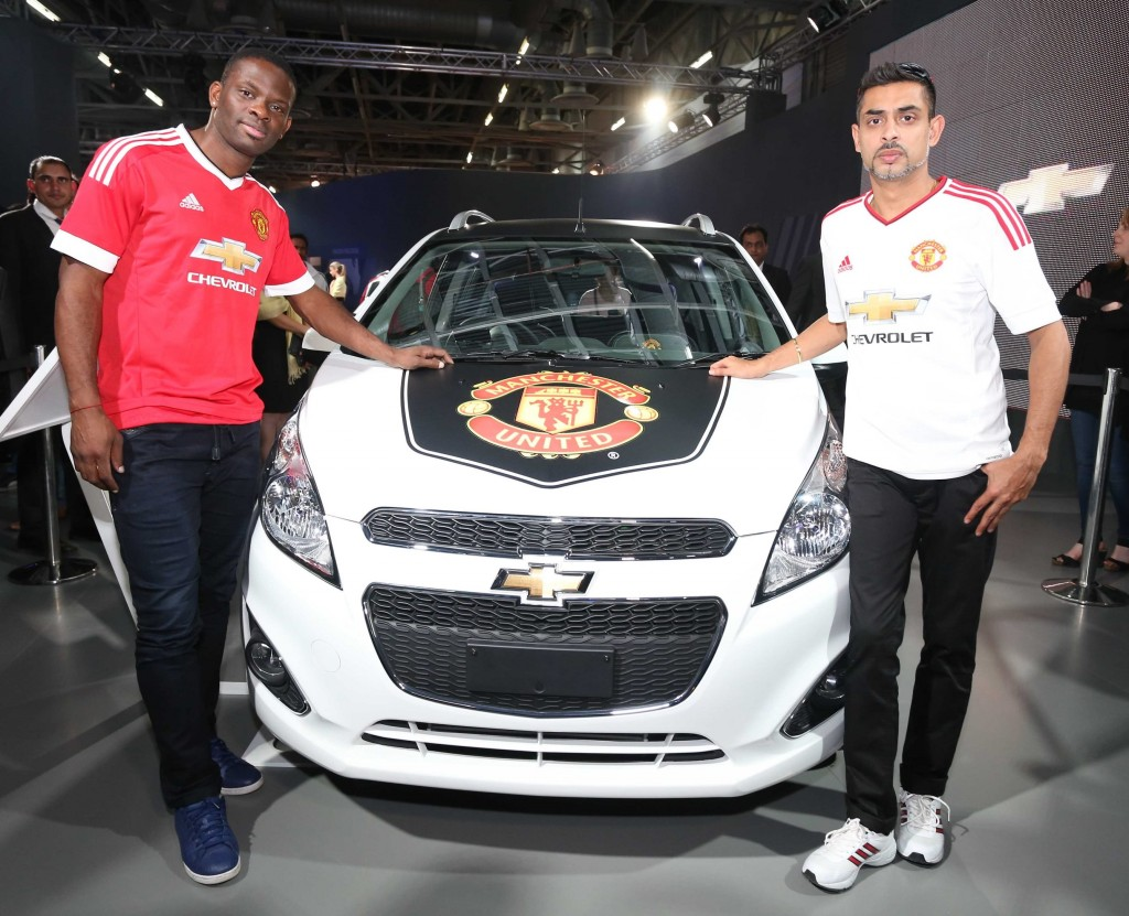 Louis Saha, Manchester United Legend, with Jack Uppal, VP, Marketing and Customer Experience, GM India