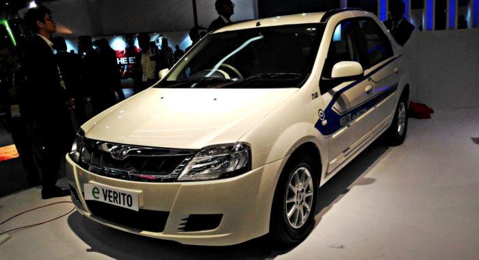 Auto Expo 2016 Launches Updates News Images: Auto Expo 2016: Mahindra E-Verito Electric Sedan Unveiled