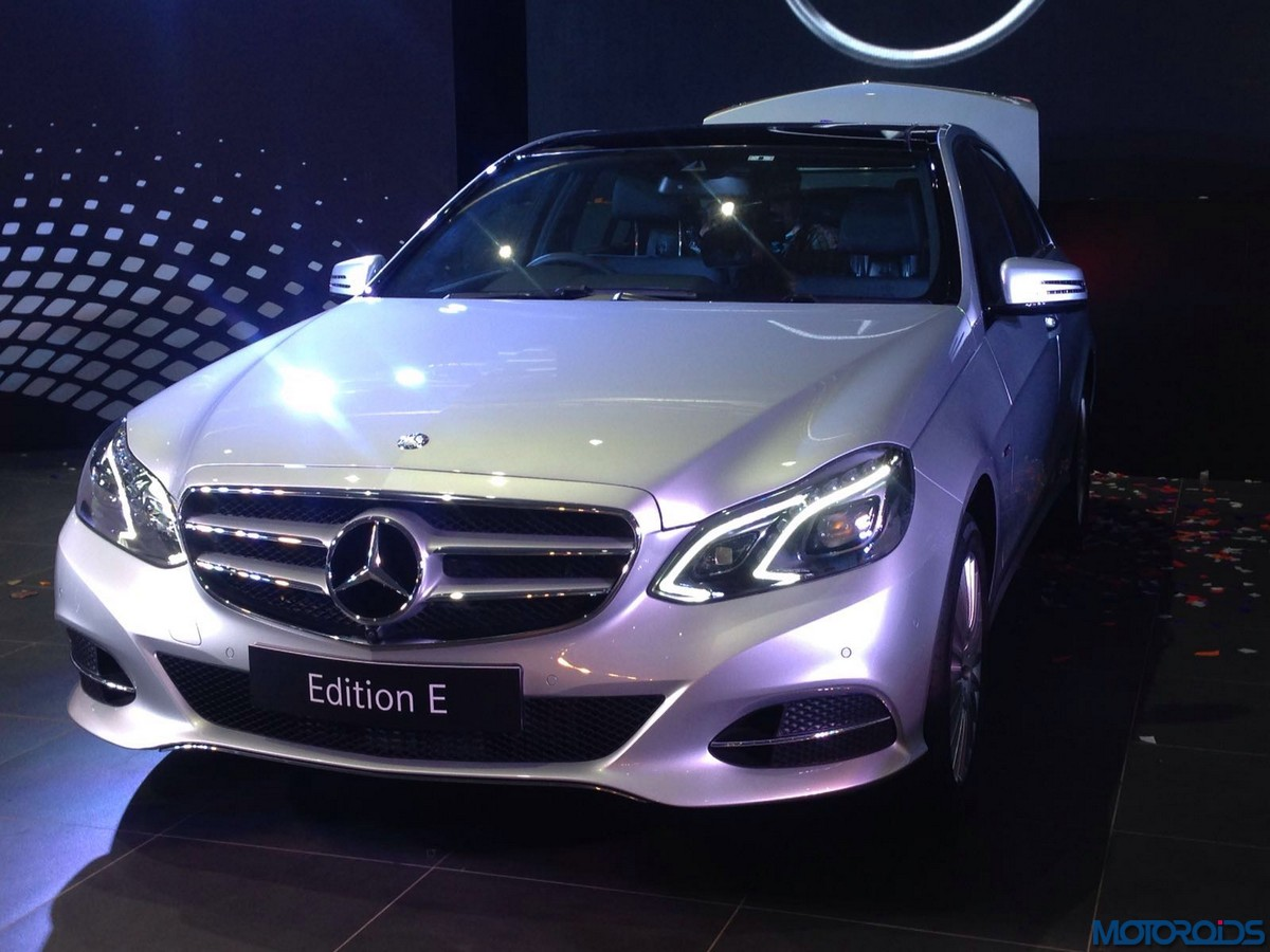 mercedes benz e class edition e launched prices start at inr lakhs motoroids. Black Bedroom Furniture Sets. Home Design Ideas