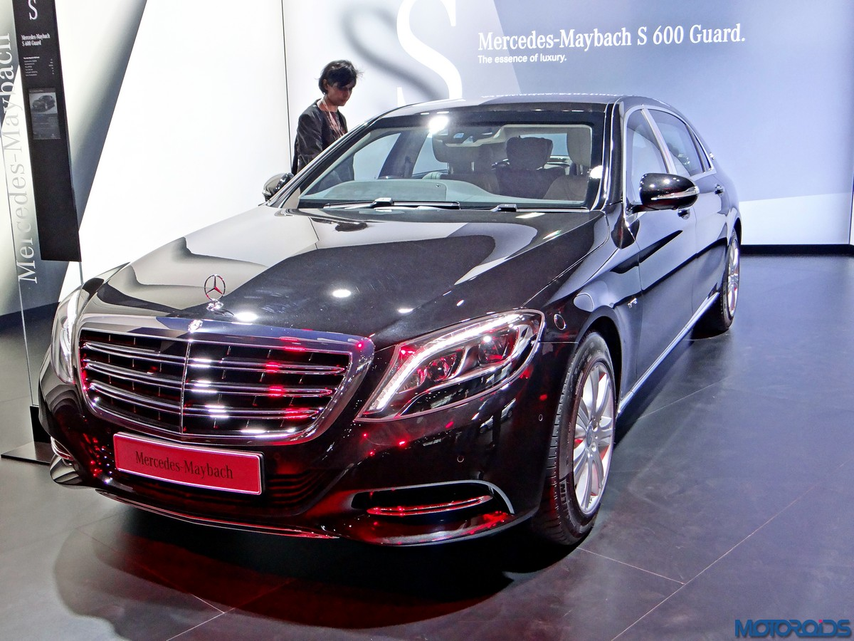 auto expo 2016 at inr 9 crores the mercedes maybach s 600 guard is one of the show 39 s most. Black Bedroom Furniture Sets. Home Design Ideas