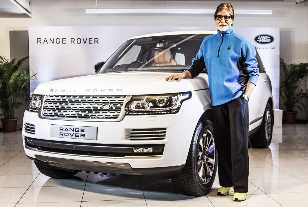 Mr. Amitabh Bachchan with The Range Rover