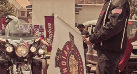 Mr. Pankaj Dubey, Managing Director, Polaris India Pvt Ltd., flagging off the Indian Motorcycle Ride