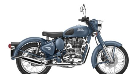 Royal Enfield introduces a new Squadron Blue colour for its Classic 500 range of motorcycles