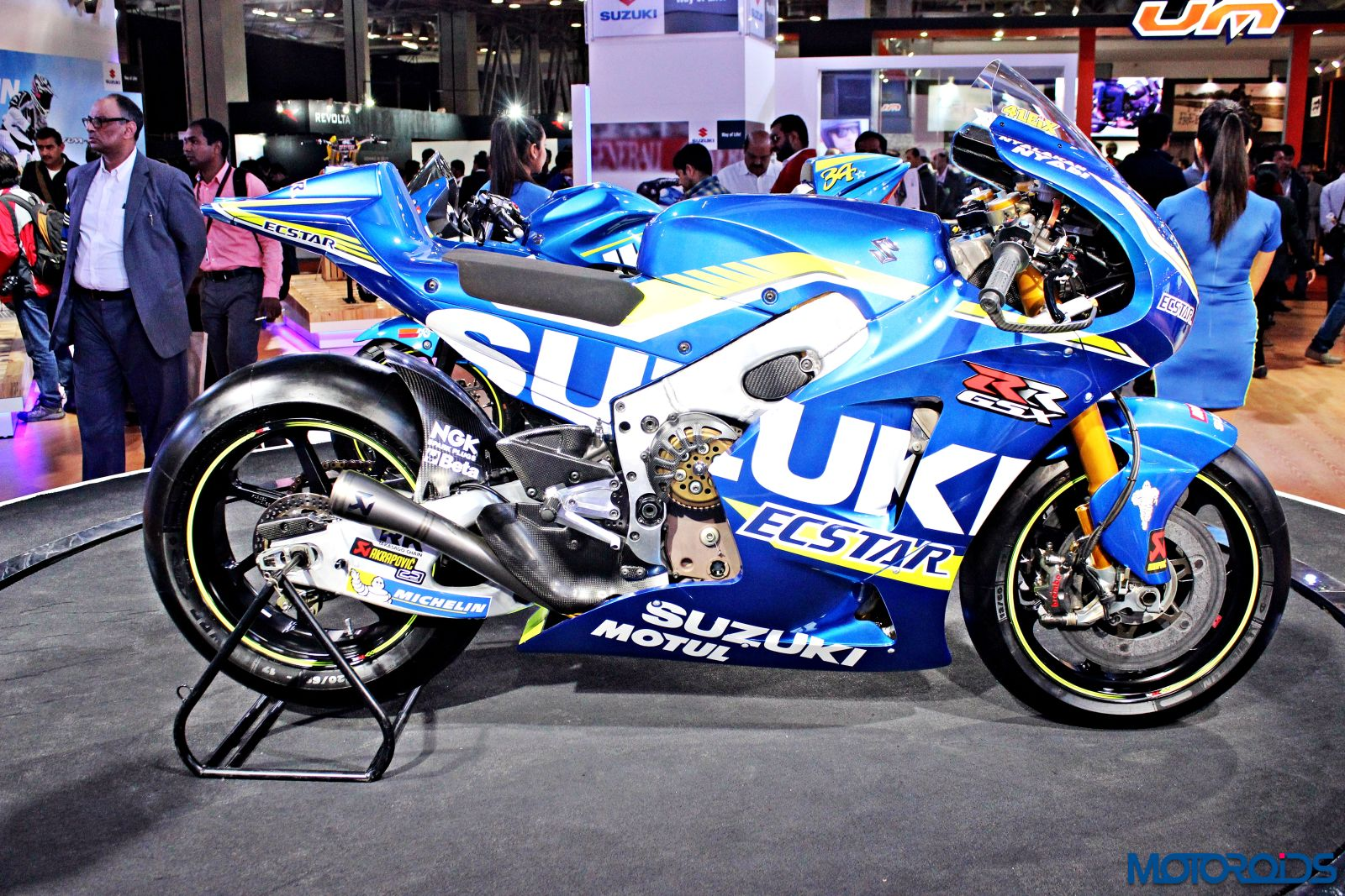 Suzuki ECSTAR GSX-RR - MotoGP Motorcycle - Auto Expo 2016 (2)