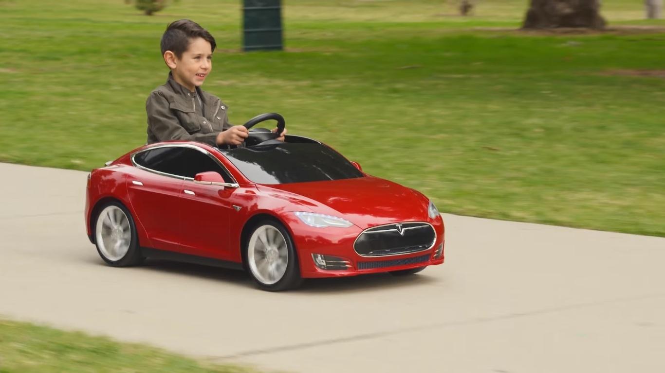 Radio Flyer Bike >> VIDEO: Tesla Model S for kids up for pre order; priced at ...