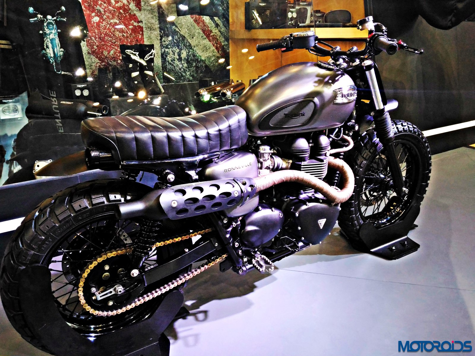 Triumph Bonneville Rajputana Customs Auto Expo 2016 (5)