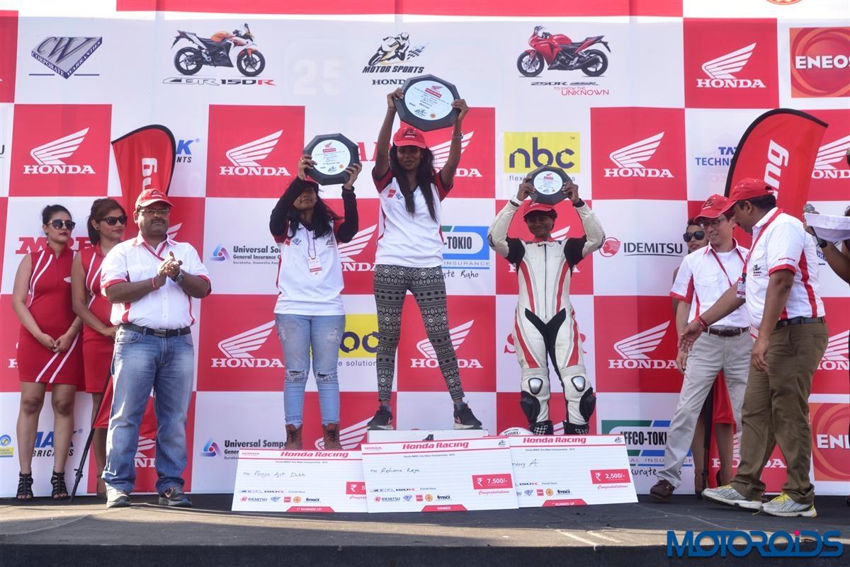 Winners of the Honda All Ladies Race