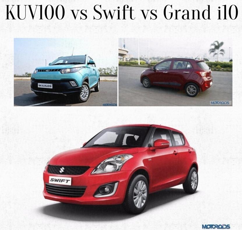 kuv100 vs swift vs grand i10comparison