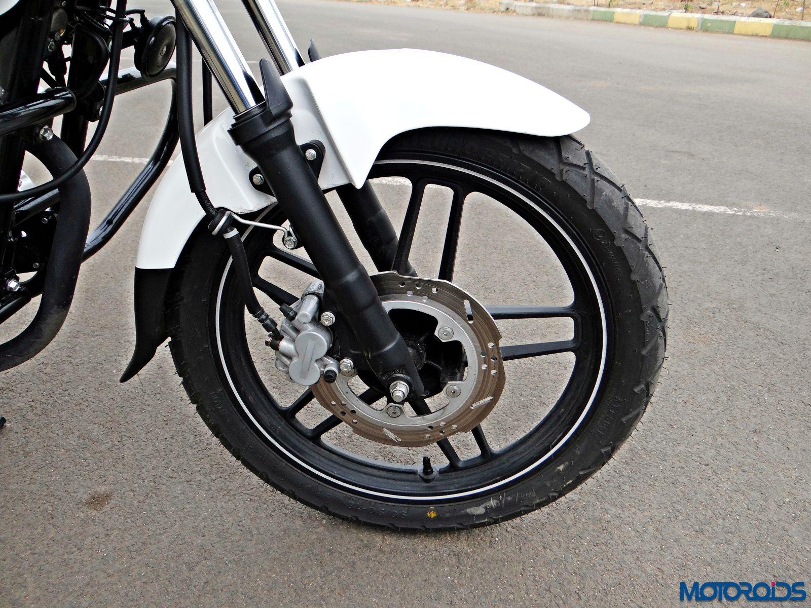 Bajaj V15 - Review - Details - Front Wheel - Suspension - Brake (1)