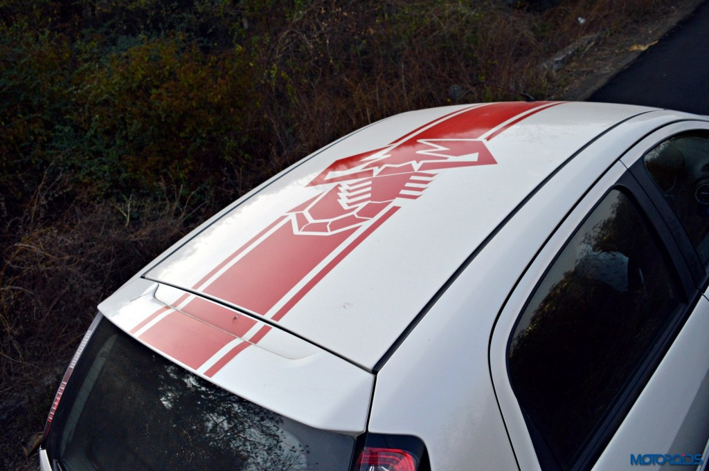 Fiat Punto Abarth Roof stickering(15)