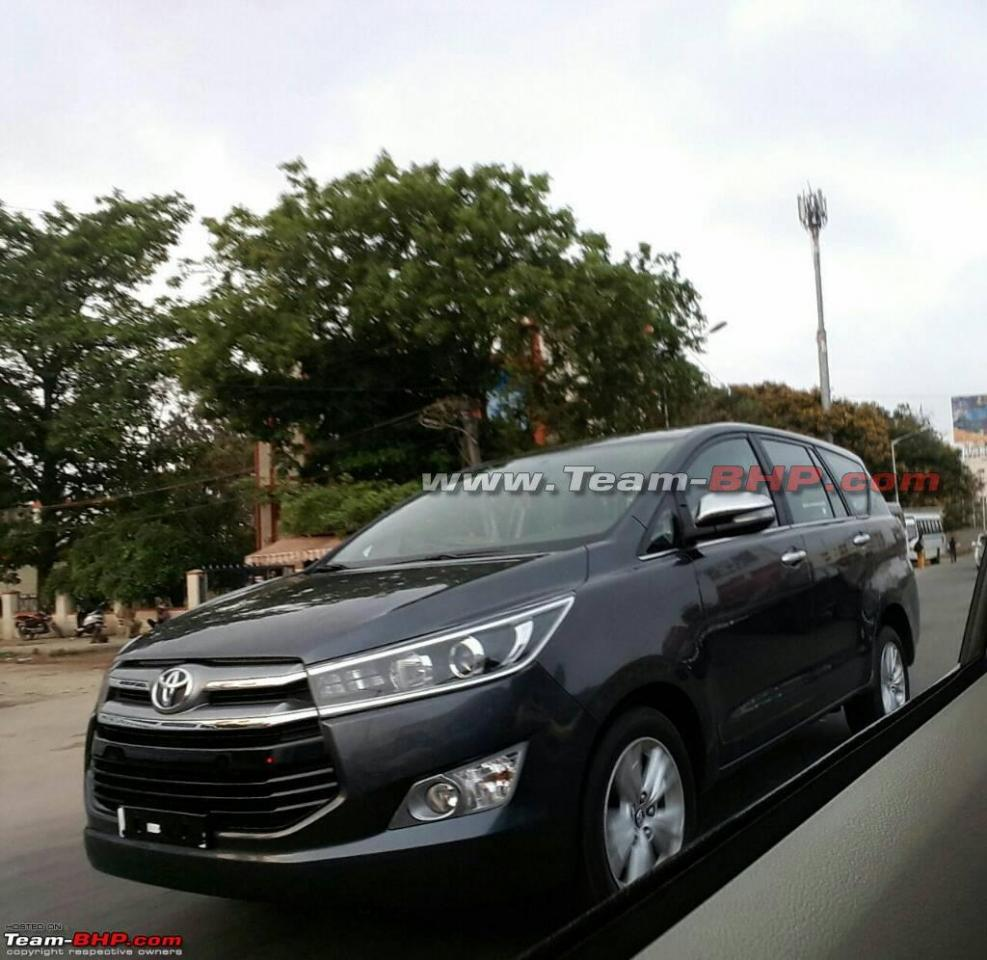 Toyota Innova Crysta Spotted On Indian Roads Expected To