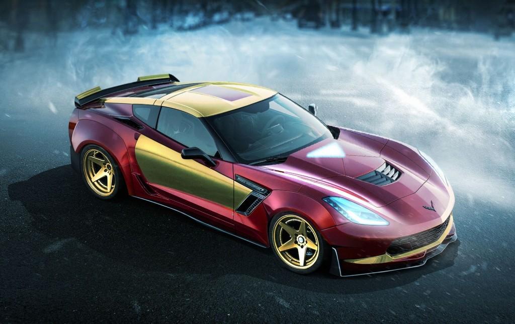 Iron Man Chevrolet Corvette Z06 Superhero
