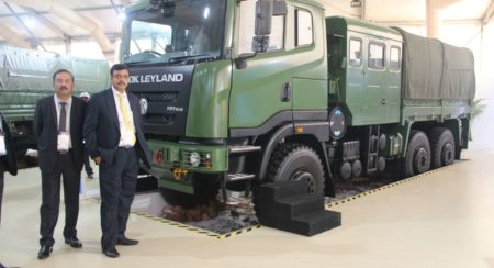 (Left to Right) - Mr. Nitin Seth, President - LCV & Defence, Ashok Leyland and Mr. Vinod Dasari, MD,