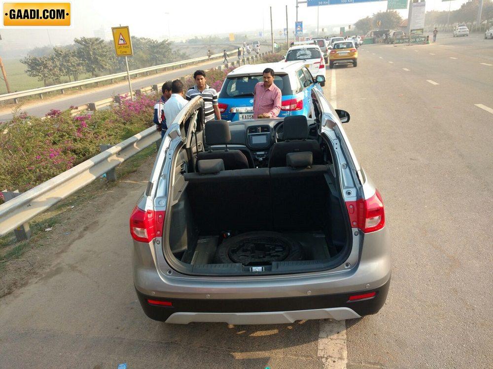 Maruti Vitara Brezza Spied On The Road Ahead Of March 8