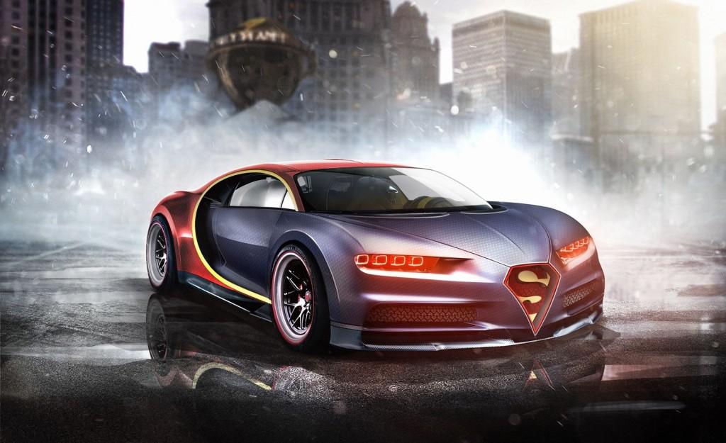 Superman Bugatti Chiron Superhero