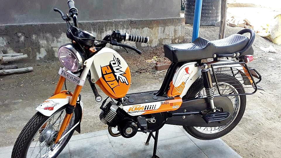 This TVS XL Dressed As A KTM Duke 200 Is Hilarious