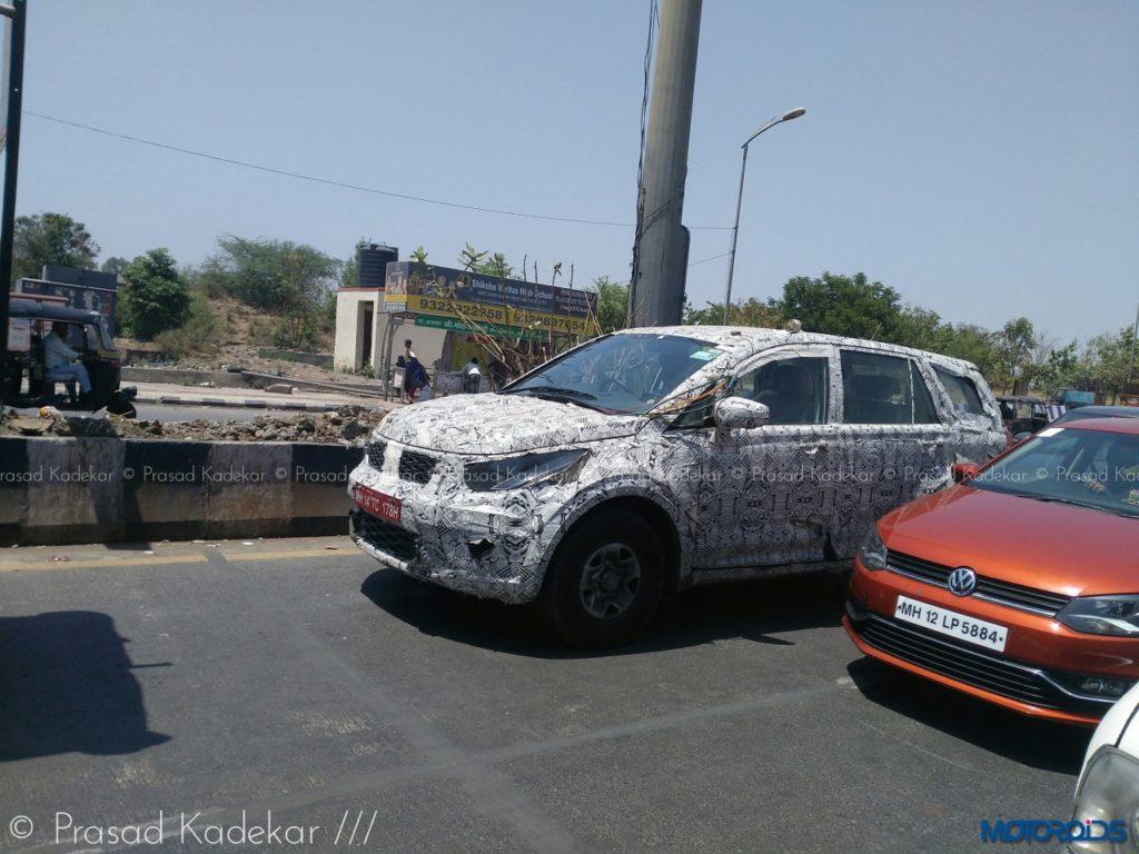 Tata Hexa spy image Pune