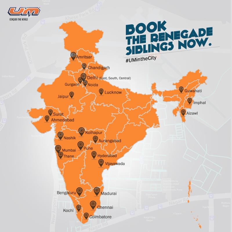 UM Motorcycles Dealership in India