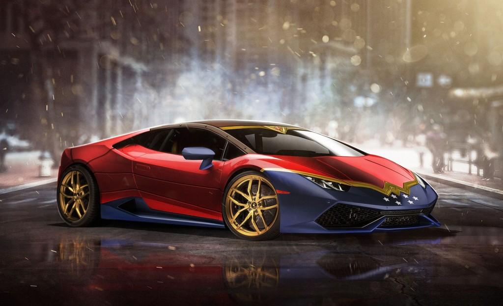 WonderWoman Lamborghini Huracan Superhero