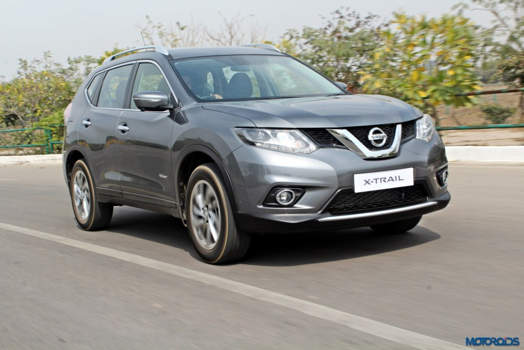 new 2016 Nissan X-Trail Hybrid India grey front (2)