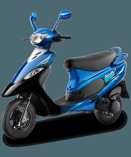 2016 TVS Scooty Pep Plus – Nero Blue
