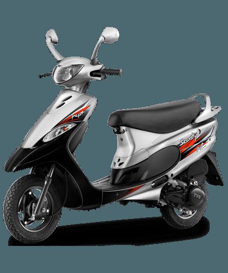 2016 TVS Scooty Pep Plus - Nero-Silver