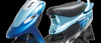 2016 TVS Scooty Pep Plus – dazzling-blue