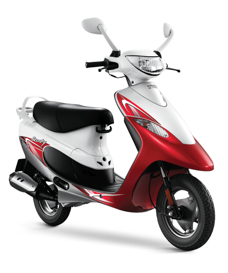 2016 TVS Scooty Pep Plus – red