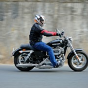 Harley Davidson 1200 Custom Review Action Shots 6 180x180 2016 Harley Davidson 1200 Custom Review : Sporty Smarts
