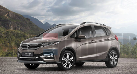 Jazz based Honda WR-V compact crossover rendered; India bound