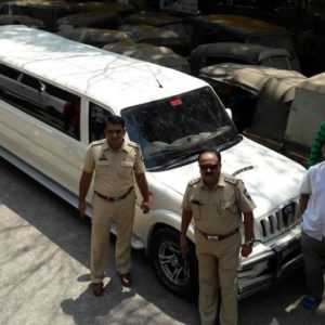 Panvel RTO strikes again, impounds another Mahindra Scorpio stretch limousine