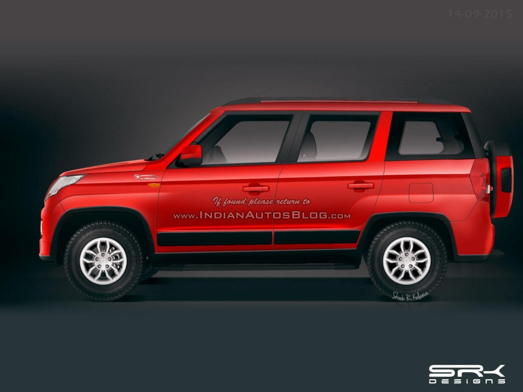 Probable Mahindra Tuv500 Rendered With Third Row Seats