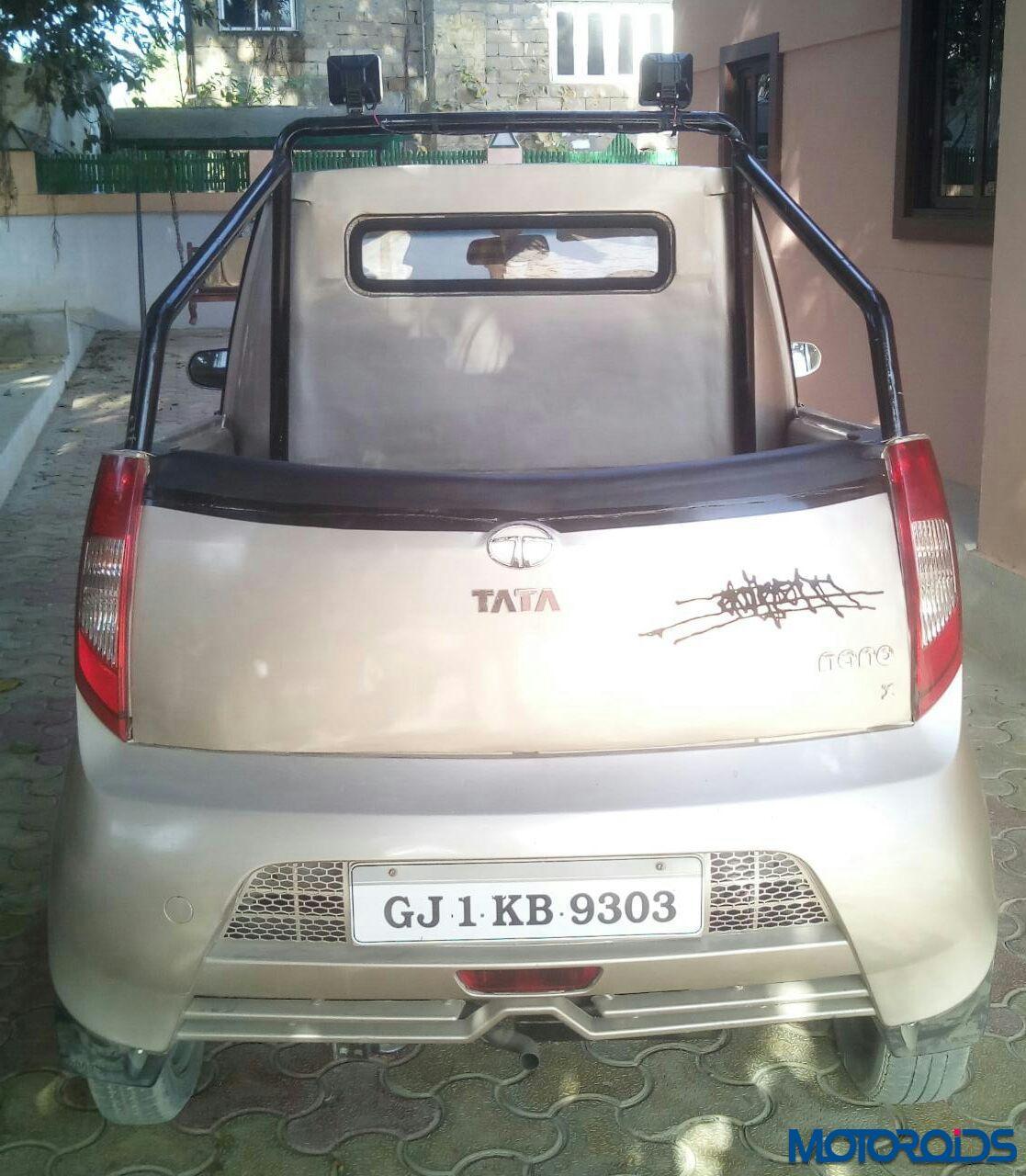 Design of tata nano car - Modified Tata Nano Pick Up 1