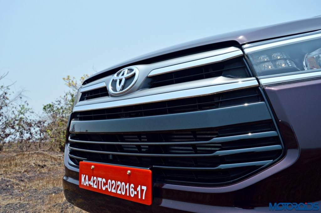 New Toyota Innova Crysta front grille (3)