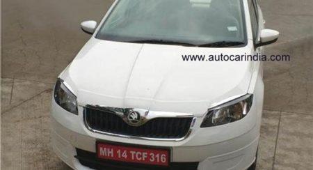 2016 Skoda Rapid Facelift spotted yet again