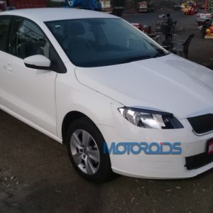 Images: Skoda Rapid facelift spied inside out