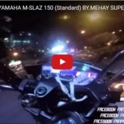 Yamaha M Slaz Speedtest 1 180x180 VIDEO: Yamaha M Slaz/Xabre does 140kph in its top speed test!