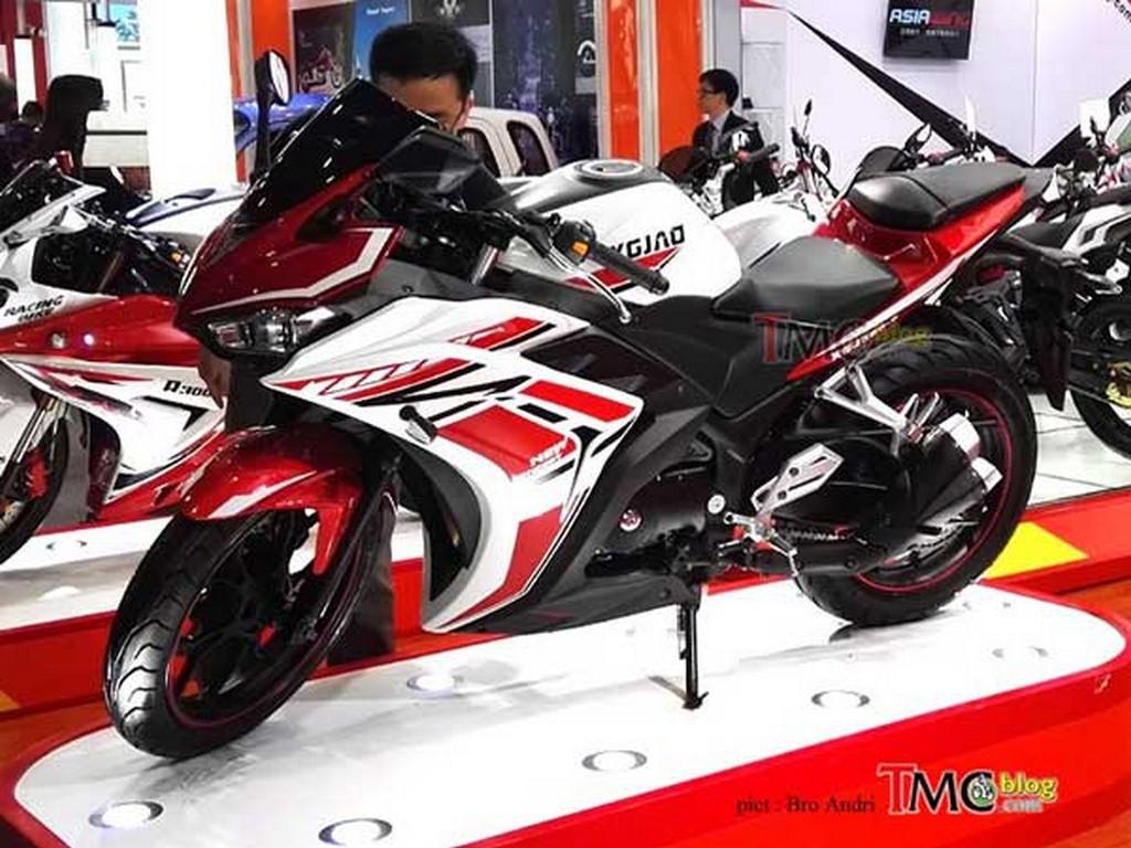 Xgjao xgj350 is yamaha yzf r3 39 s 350cc quad exhaust for Yamaha 350cc motorcycles