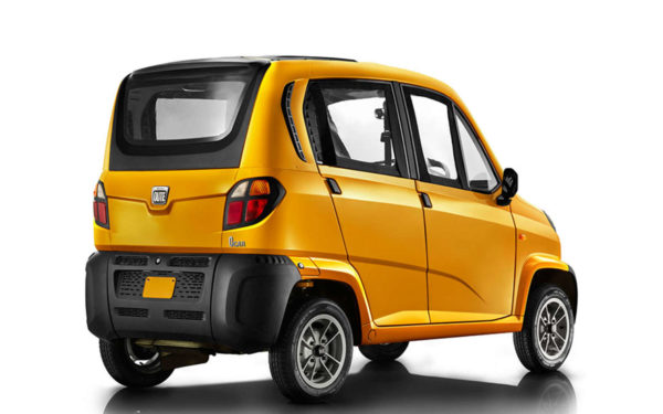 bajaj qute rear three quarters