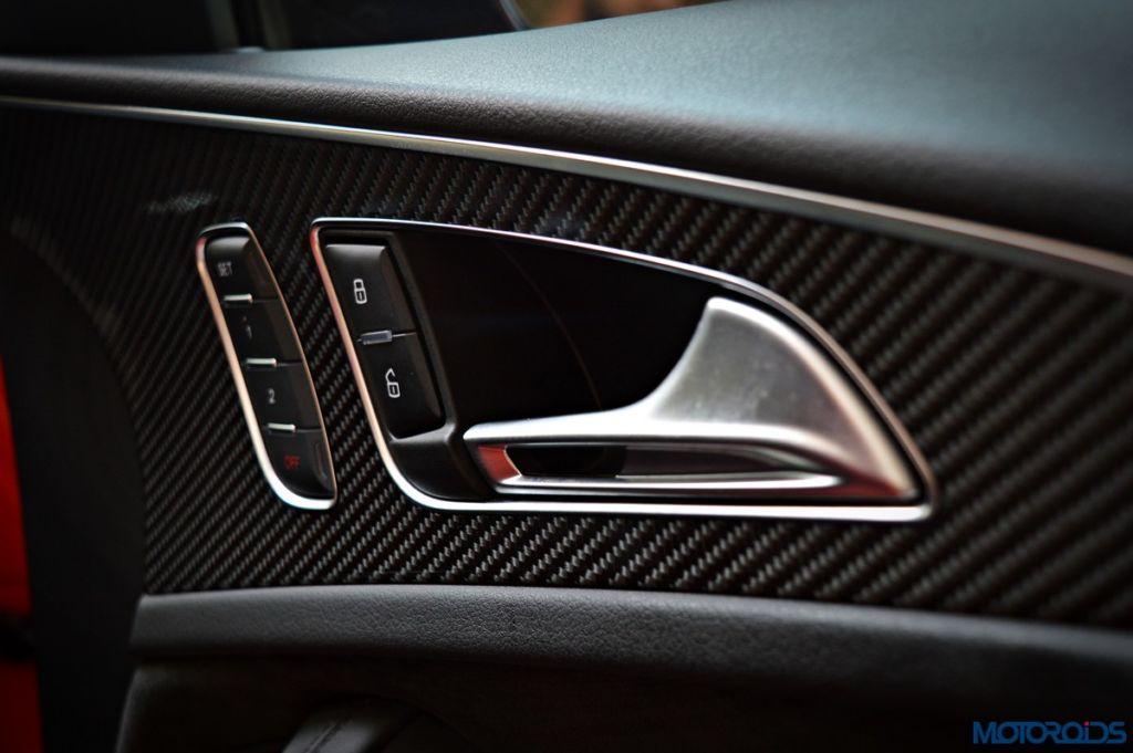 Audi RS6 Avant carbon fiber door inlays (1)