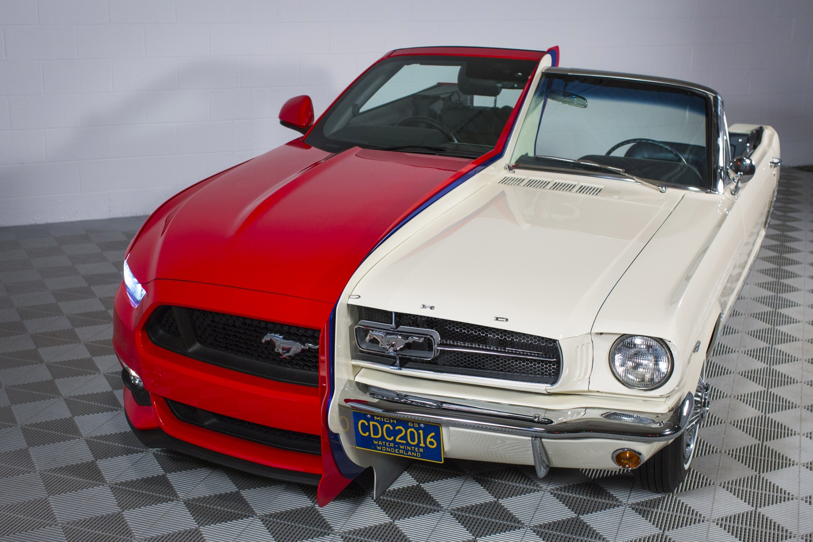 ford fuses 50 years of history by combining a 1965 mustang. Black Bedroom Furniture Sets. Home Design Ideas